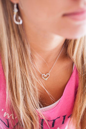 Nauti Girl Hook Heart Necklace Small