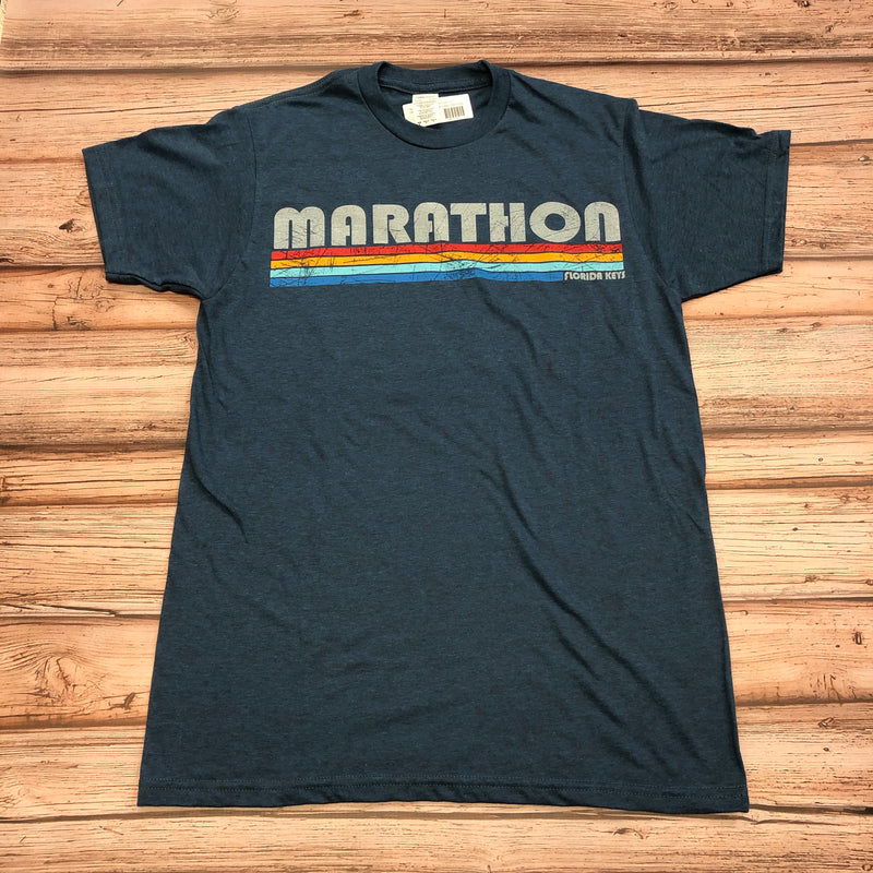 Marathon Stripes Unisex T-shirt, Blue