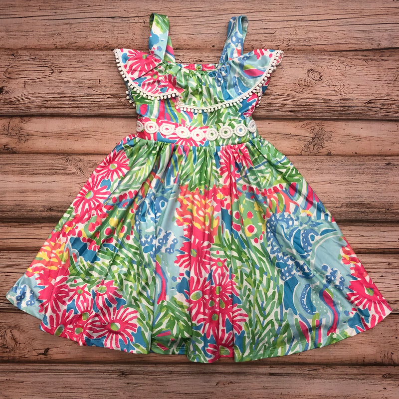 Charlie's Project Floral Ruffle Dress