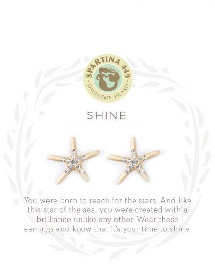 Spartina Shine Gold Post Starfish Earrings