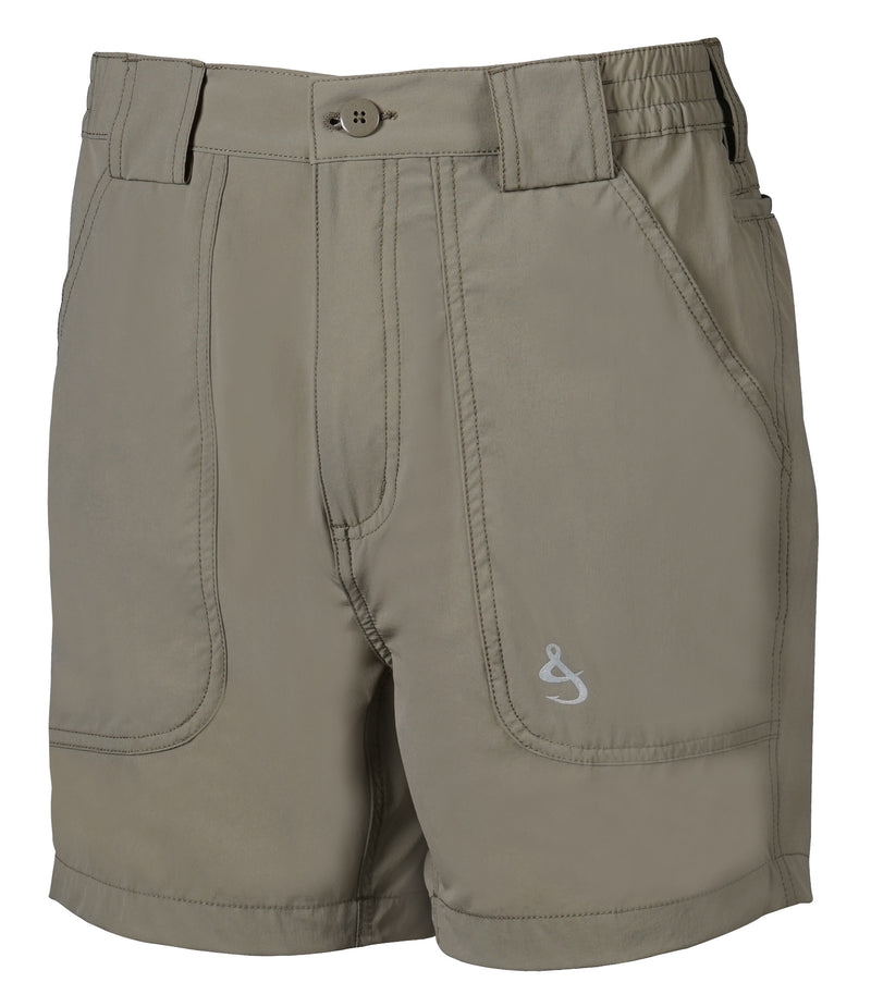 Beer Can Island Stretch Hybrid Fishing Short, Khaki