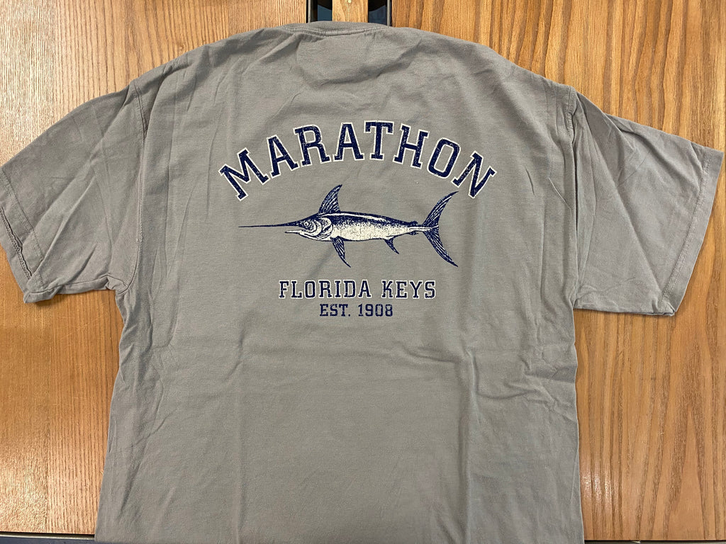 Austin's 2x2 Marlin Short Sleeve T-Shirt, Smoke Grey