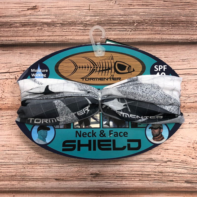 Tormenter Face Shield Buff, Grey Marlin