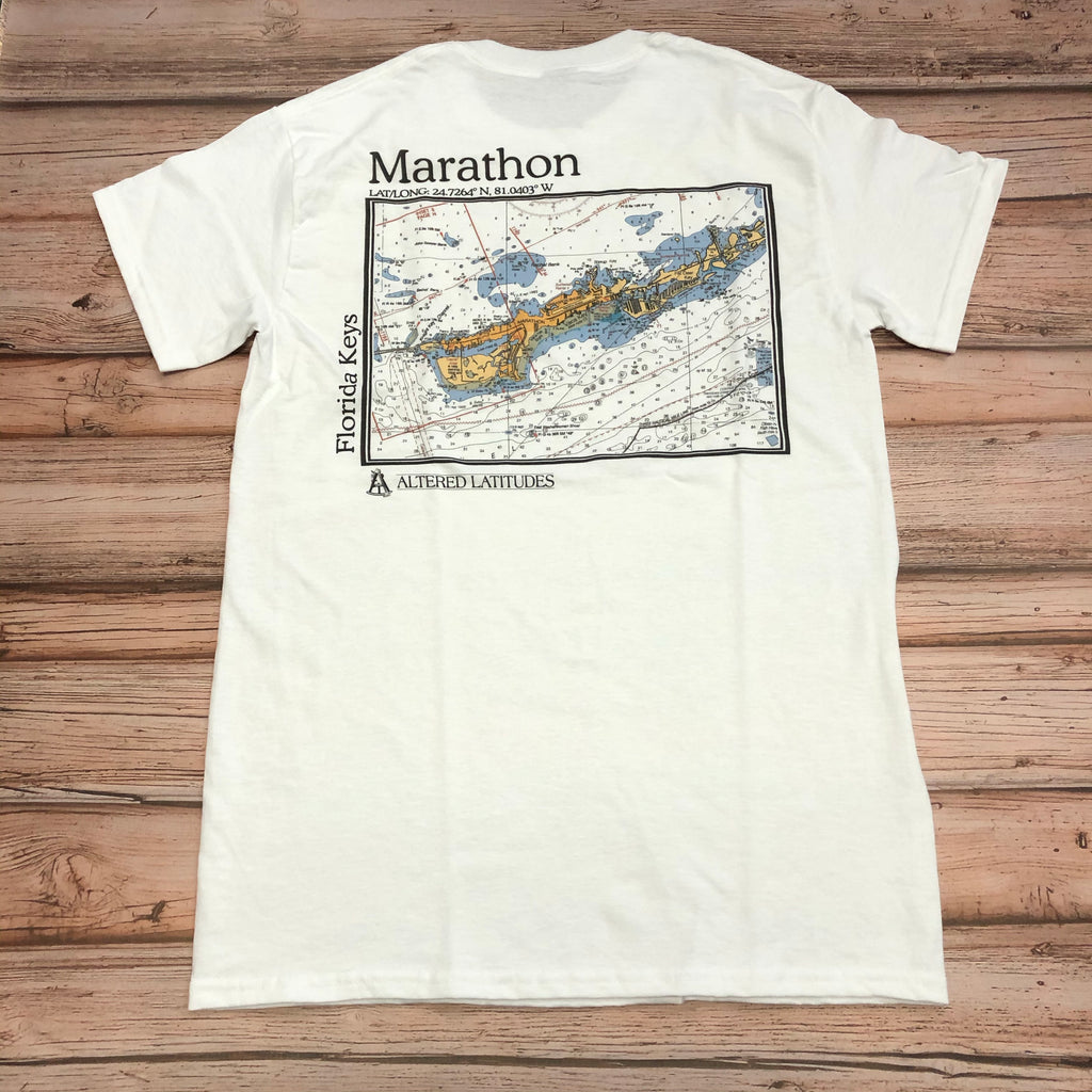 Marathon Chart Cotton Unisex T-shirt, White