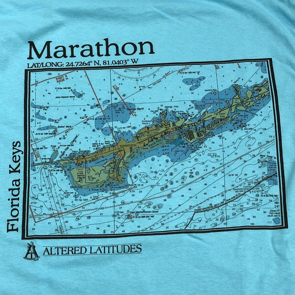 Marathon Chart Cotton Unisex T-shirt, Sky Blue
