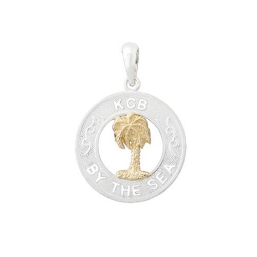 KCB By the Sea Pendant, Sterling Silver w/ 14k Gold