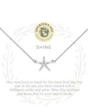 Spartina Shine Silver Starfish Necklace