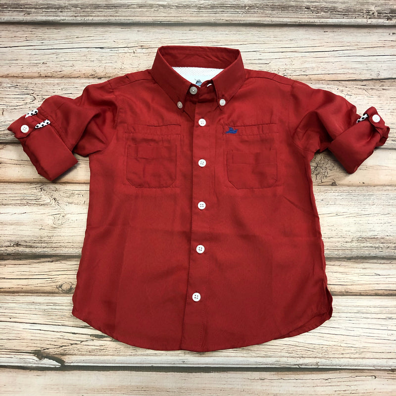 Southbound Fishing Shirt, Red