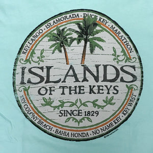 Islands of the Keys V Neck T-Shirt, CM Blue