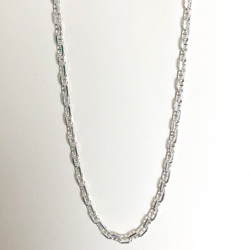 Anchor Chain, Sterling Silver w/ Lobster Clasp