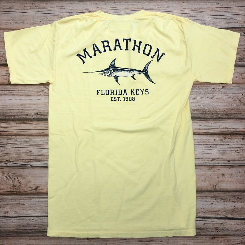 Austin's 2x2 Fish Short Sleeve T-Shirt, Butter Yellow