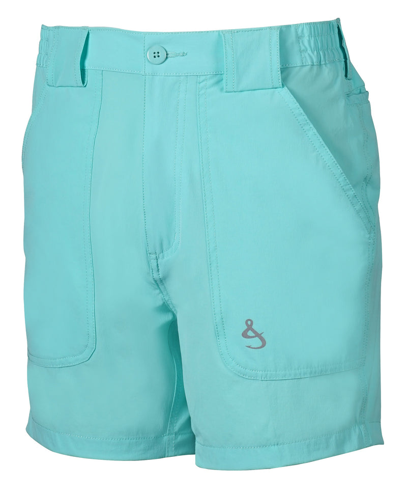 Beer Can Island Stretch Hybrid Fishing Short, Turquesa