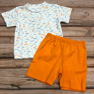Squiggles Fish Set, Orange & Blue