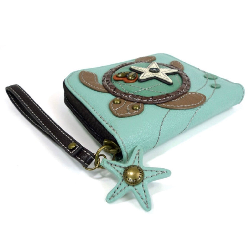 Chala Turtle Zip Around Wallet
