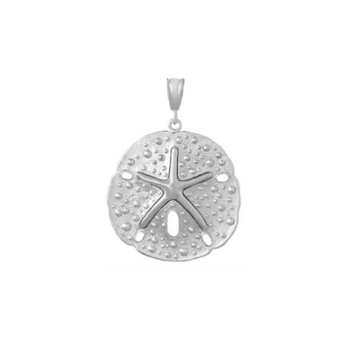 Sand Dollar Pendant, Sterling Silver