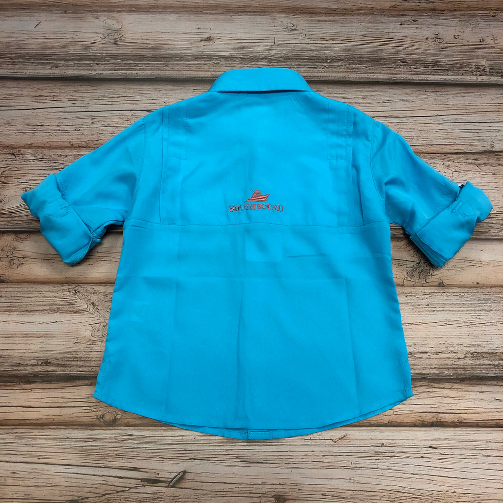 Southbound Fishing Shirt, Turquoise