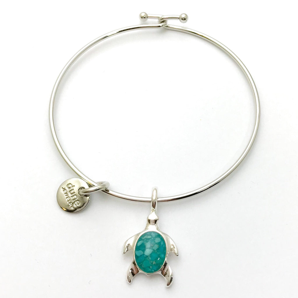 Dune Turtle Bangle, Turquoise