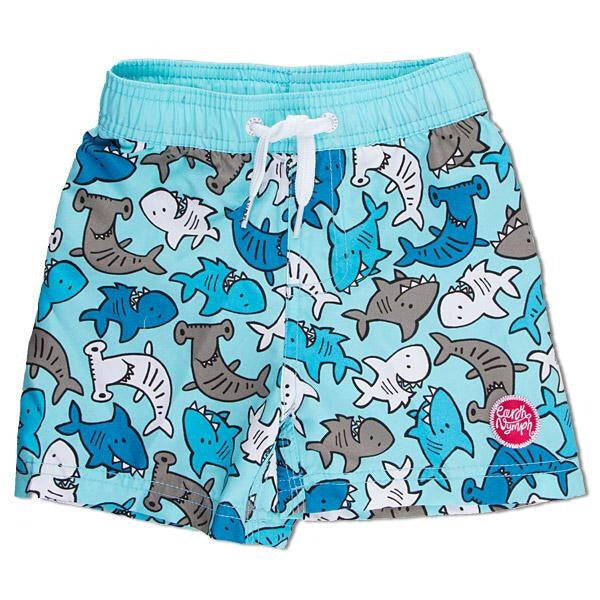 Earth Nymph Shark Baby Boardshorts, Sky Blue