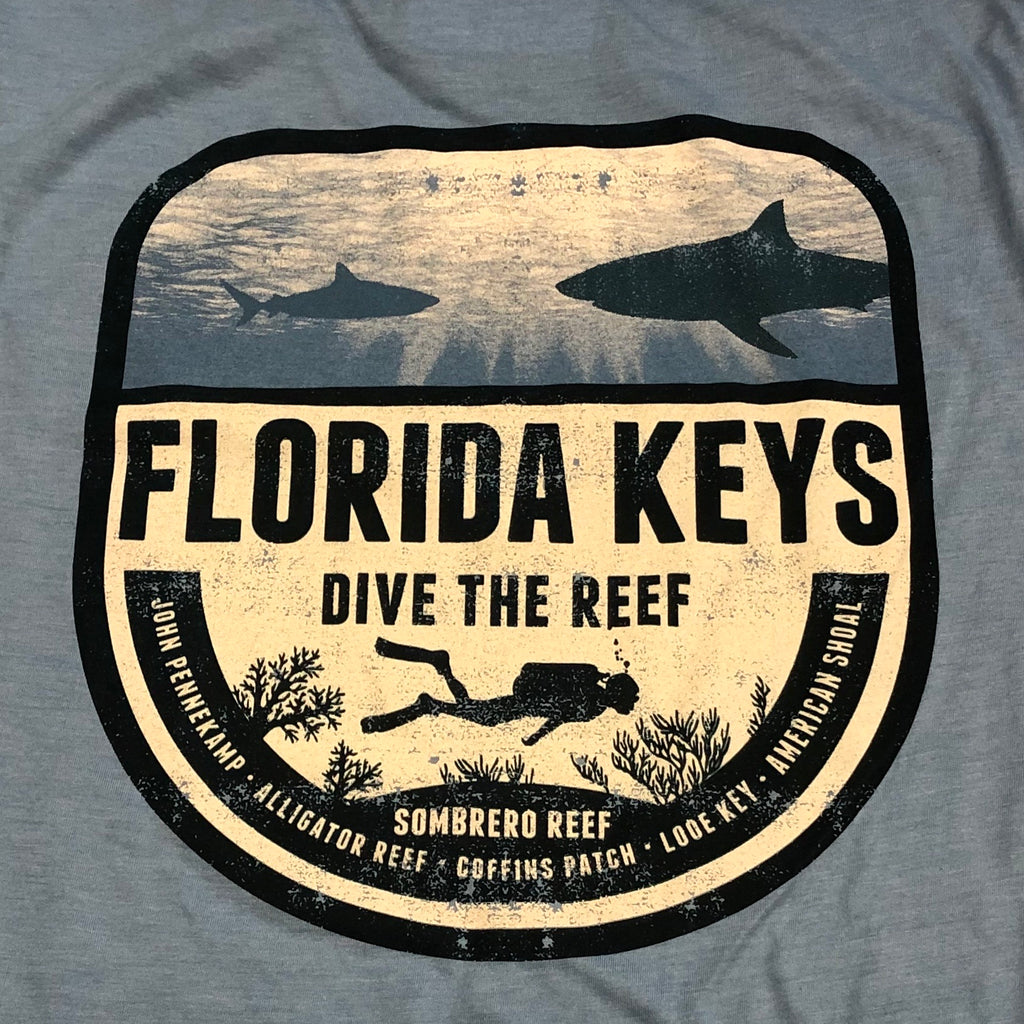 Dive the Reef Cotton Unisex T-shirt, Blue