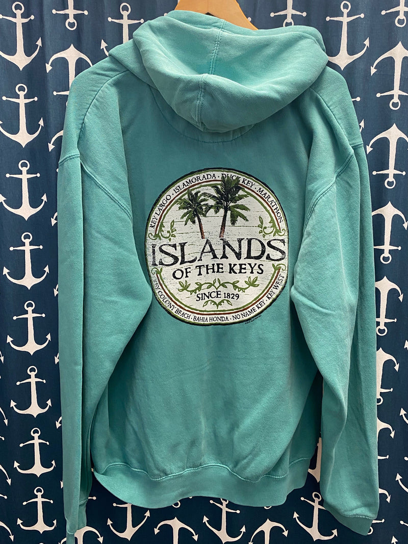 Islands of the Keys Unisex Mini Zip Sweat Shirt, Caribe