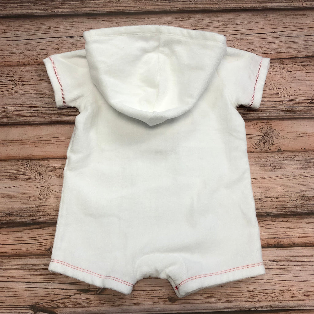 Mud Pie Crab Terry Cloth Romper, Snap Bottom