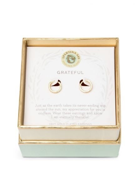 Spartina Gold Grateful Huggie Hoop Earrings