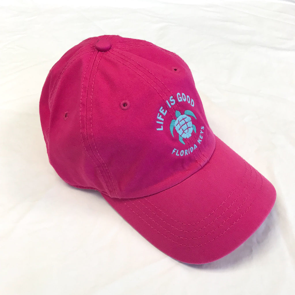 Life is Good Chill Cap Turtle Fl Keys, Pink