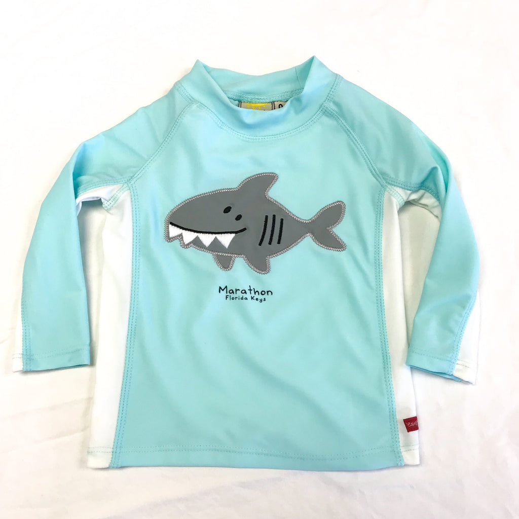 Earth Nymph Shark Baby Wetshirt, Sky Blue
