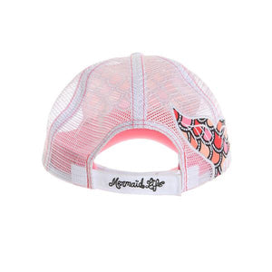 Mermaid Life Scale Hat, Pink