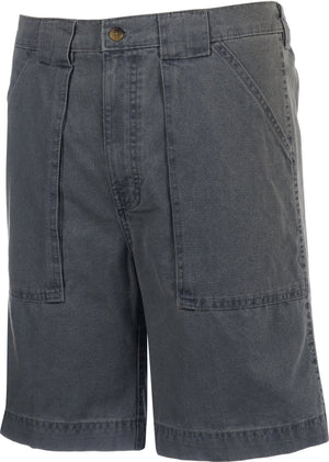 Hook & Tackle Beer Can Island Fishing Short Long Neck, Chambray