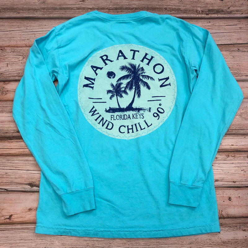 Wind Chill 90 Unisex Long Sleeve T-Shirt, Lagoon Blue
