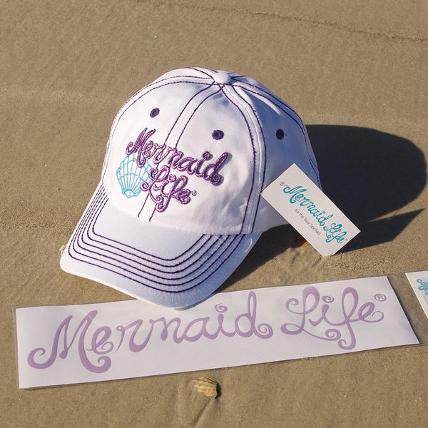 Mermaid Life Decal, Purple