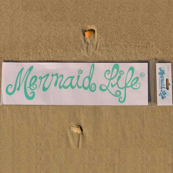 Mermaid Life Decal, Teal