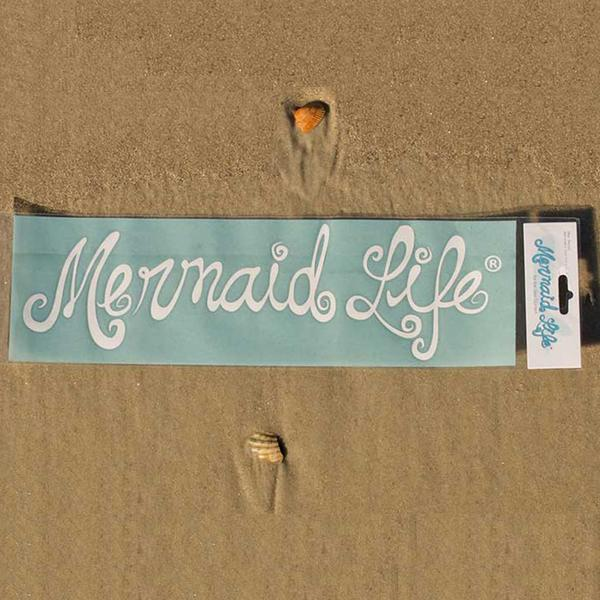 Mermaid Life Decal, White