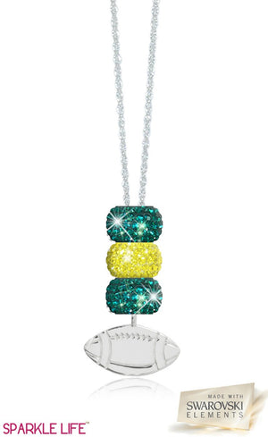 Green & Yellow Football Necklace