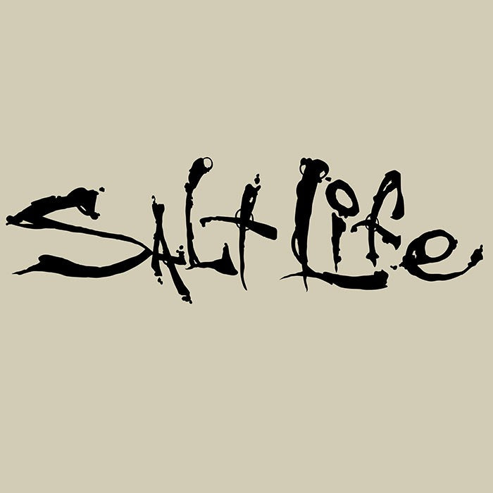 Salt Life Decal Medium, Black