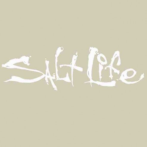 Salt Life Decal Medium, White