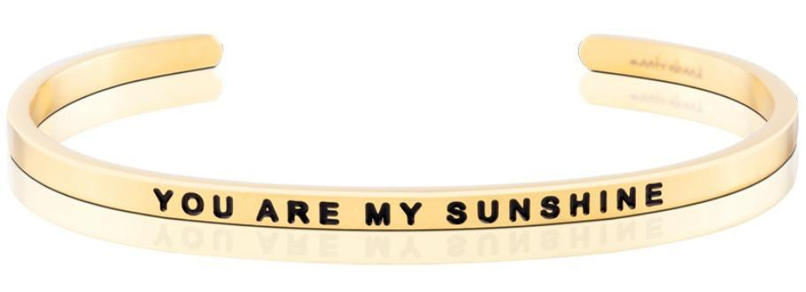 Mantraband Cuff You Are My Sunshine, Gold