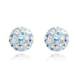 CB1036 | Crystal Ball Stud Earrings - Crystal AB