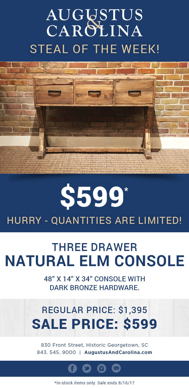 Steal of the Week - $599 Console Table
