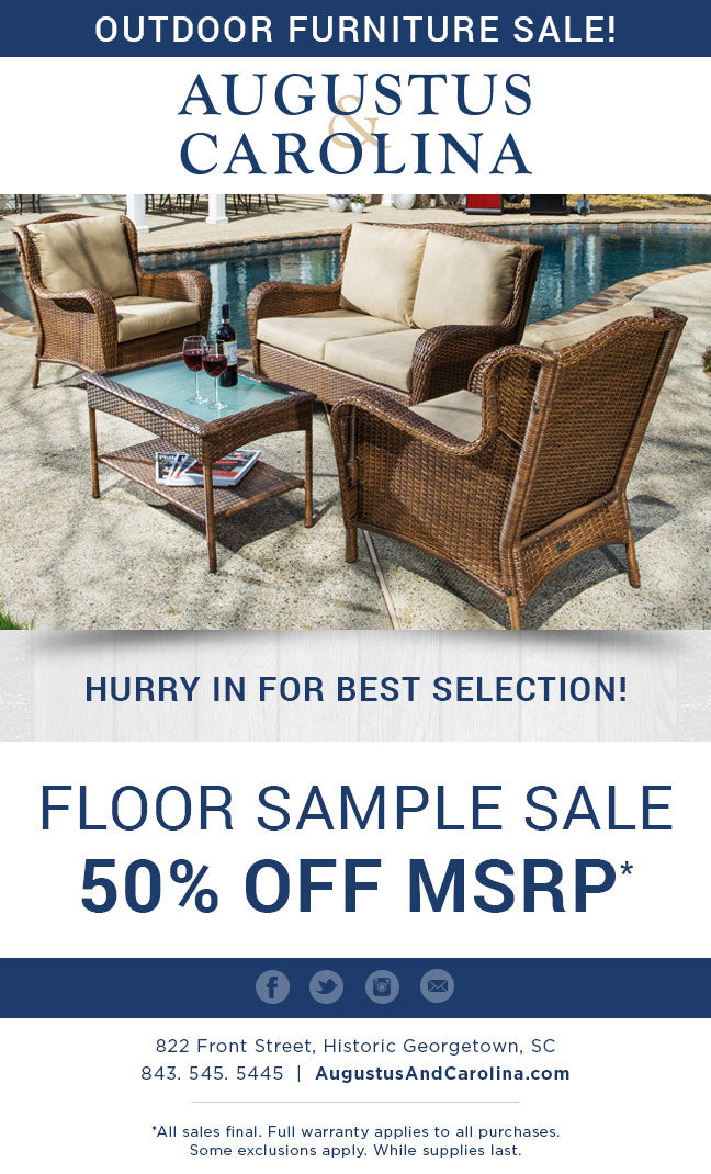 Outdoor Furniture Sale - 50% Off Floor Samples