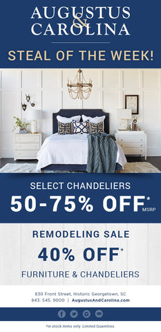 50-75% Off Select Chandeliers