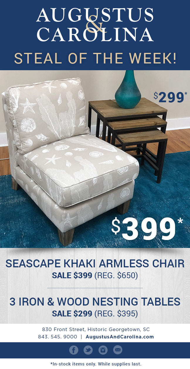 Steal of the Week - $399 Seascape Armless Chair