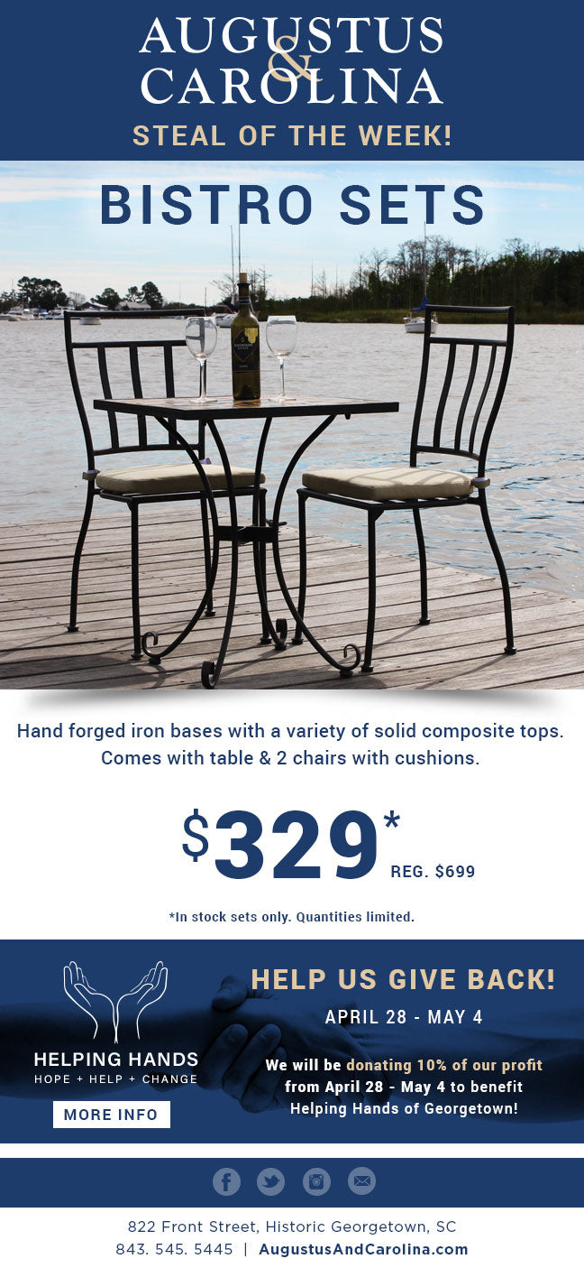 $329 Outdoor Bistro Sets
