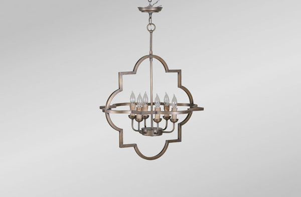 Athena Large Chandelier Brass