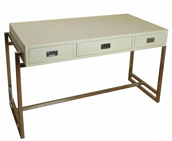 Crocodile Pearl Leather Desk