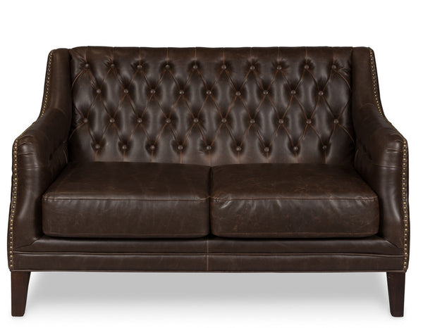 Brooks Leather Tufted 2 Seat Sofa