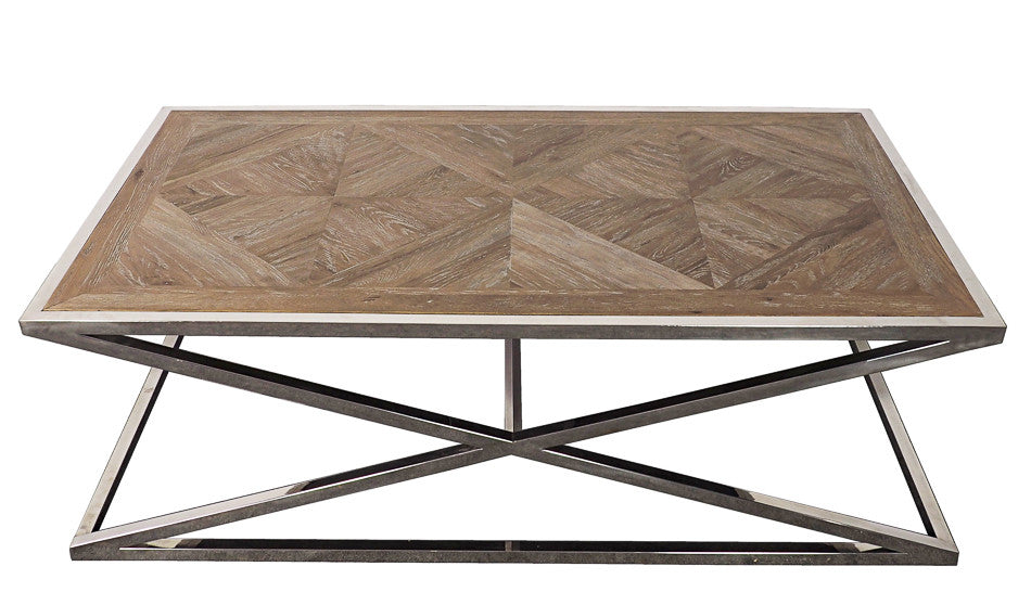 Parquet Stainless Coffee Table