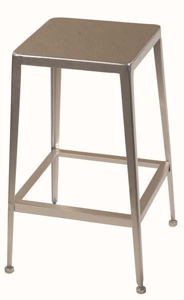 Silver Counter Stool