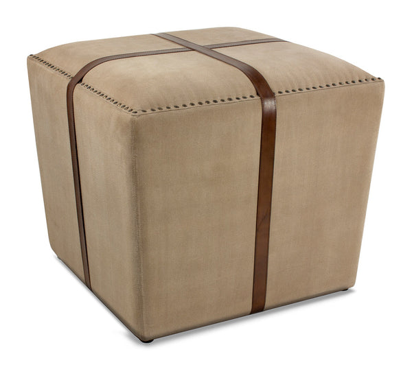 Canvas & Leather Stool